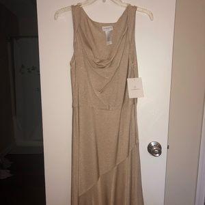 Liz Claiborne sparkly gold dress